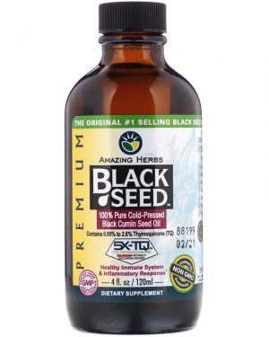 Black Seed, 100% Pure Cold-Pressed Black Cumin Seed Oil