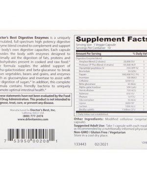 Digestive Enzymes, 10 Veggie Caps