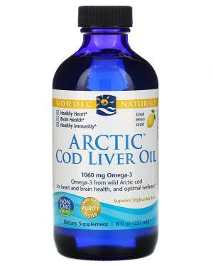 Arctic Cod Liver Oil, Lemon, 8 fl oz