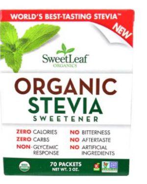 Sweet Leaf Organic Stevia – 70 Packets