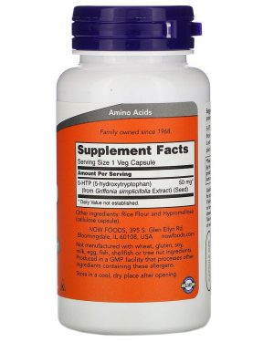 5-HTP, 50 mg, 90 Veg Capsules