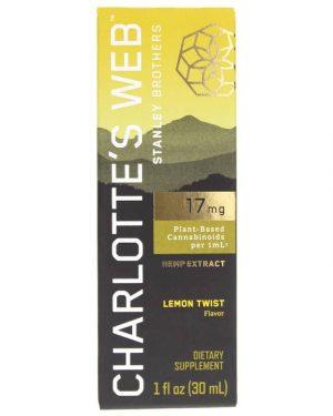 Charlotte's Web CBD Oil: 17mg CBD/1ml (Lemon Twist)
