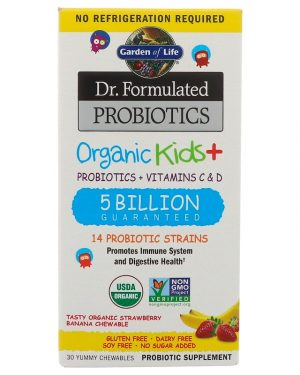 Dr. Formulated Probiotics, Organic Strawberry Banana, 30 Yummy Chewables