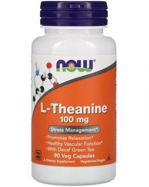 L-Theanine, 100 mg, 90 Veg Capsules