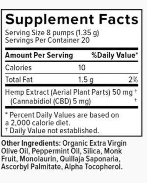 Plus CBD Oil Spray – Peppermint – 5mg CBD/serving (100mg)