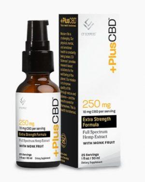 Plus CBD Oil Extra Strength – Monk Fruit – 10mg CBD/serving (1oz)